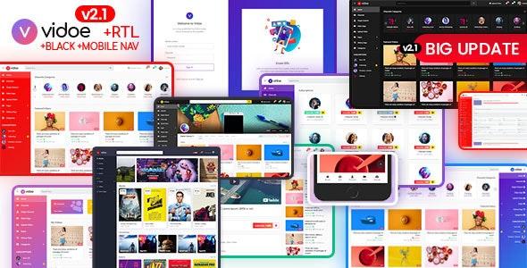 دانلود قالب HTML استریم ویدیو VIDOE